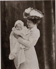 Third wife, Harriet with their daughter Anne Mari