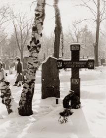 His grave at North Burrial Ground, Stockholm